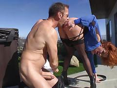 Rocco siffredi  rams his big cock into the ass of veronica avluv