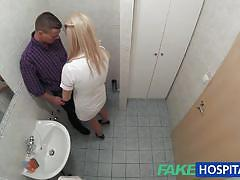 Nurse sucks dick for sperm sample