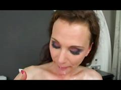 Hot mature full of pussy piercing fucks boy