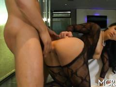 Big ass porn star fucked in the air by a stud