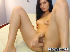 amateur, masturbation, russian, webcam, babe, brunette, dildo, solo, toy