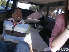 Busty teen cutie fucked mercilessly in the bang bus