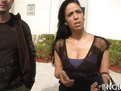 amateur, big boobs, blowjob, brunette, hardcore, fucking, public, car, riding
