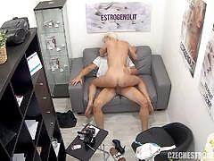 Blonde amateur dools over this hard cock