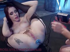 Little snoop gets lesbian electric anal domination