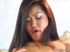 Asian pussy loves big cock