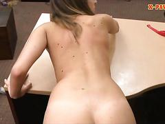 Cute babe banged by pervert pawn dude at the pawnshop
