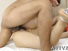 Hot asian cowgirl and blowjob video