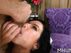 Brunette busty slut has sex in her erotic lingerie