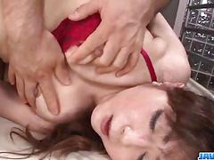 Serious threesome along babe in red lingerie, mizuki ogawa