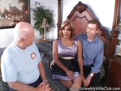 Threesome fuck fun for wifey