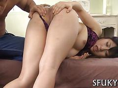 Hot chick pussy pounding action feature segment 1