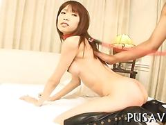 Asian pussy gets impaled to a symphony of lustful moans