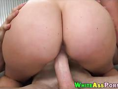 Big ass brunette conquers a studs fat cock with her pussy