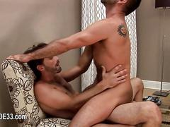 Handsome friends enjoy perfect bang times