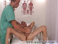 Young patient gets his cock jacked off by his doctor