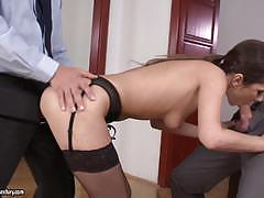 Double penetration for angie moon