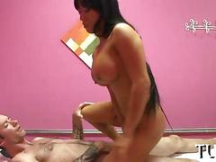 Asian masseuse giving a handjob and getting fucked  on hidden cam