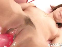 Sweet slutty dildo fucking show