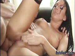 anal, brunette, hardcore, pornstars, babe, fucking, shaved, stockings