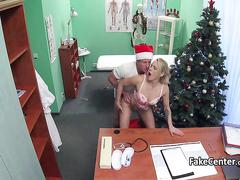 Doctor as santa fucked his patient
