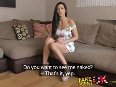 Fakeagentuk office sex for sporty spanish babe
