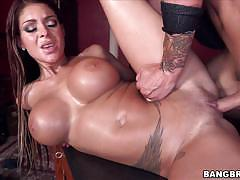 brook ultra, brunette, blowjob, riding, big tits, reverse cowgirl, cowgirl, spooning, sucking