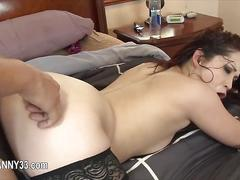 Wet redhead gets fucked by a tattooed tranny lover