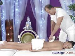 Massage rooms beautiful model loves finger up the ass when fucking