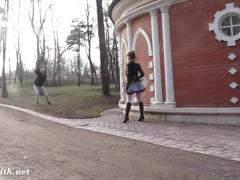 Jeny smith public park photo session behind the scene