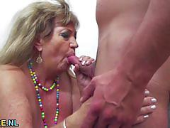 Mature amateur fucked from behind