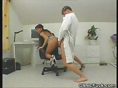 Horny doctor fucks his patient