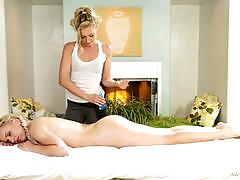 Lena nicole and lexi belle enjoy body to body massage