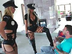 sarah vandella, nina elle, blowjob, fucked, cumshot, blonde, cumload, cum, fucked hard, sexy, deep, pussy, jizz, lesbian, hard, rider, uniform, hat, deep cock, police