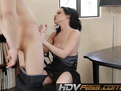 Brunette katie st ives bounces on this hard dick