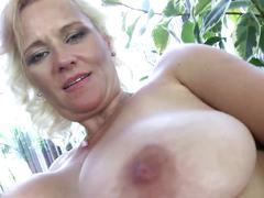 Old super hot mature mom with perfect big tits