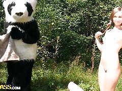 Pandas are even luckier outdoors