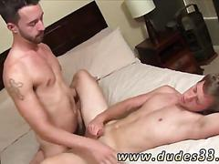 Stud leaves this cock jerking college boy anal gaping