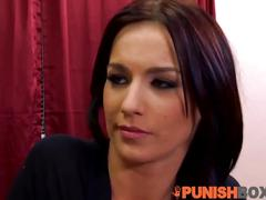 Punishbox - two hotties walk into rough threesome