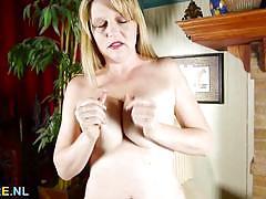 blonde, milf, busty, masturbation, solo, mature, amateur, masturbate