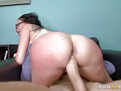 raven bay, big dick, blowjob, riding, doggystyle, tattoo, cumshot, facial, desk, office, monster cock, work, cowgirl, boss, spanking, sucking