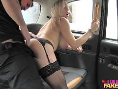 Naughty blonde rides his hard cock
