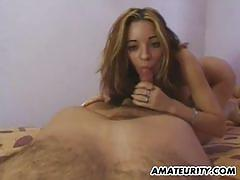 Naughty babe gets her pussy nailed
