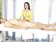 Massage babe alexis rodriguez sucks on a lolly cock