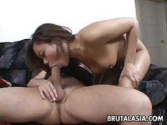 Asian brunette annie cruz loves to fuck