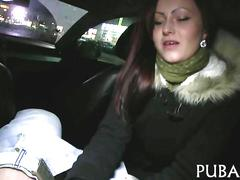 Redhead slut has a fat dick she is gobbling on