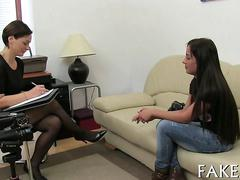 Attractive hungarian teen fucked at the casting couch