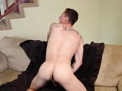 Amateur dude has a jerk off masturbation session