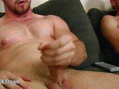 Big cock jerking session with some randy gay boys