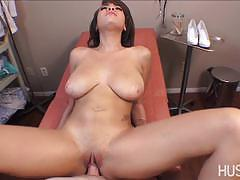 Sensual cassidy banks gets her mouth filled with cock